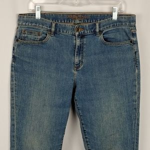 Lauren Jean Co Womens Boot cut Leg Denim Jeans 12